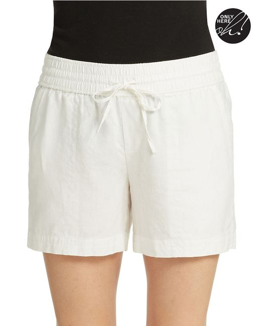 Lord & Taylor | White Linen Shorts | Lyst