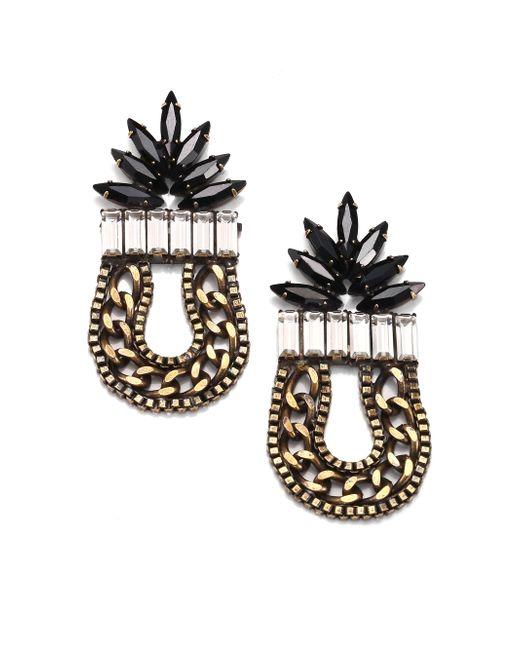 DANNIJO | Black Aix Earrings | Lyst