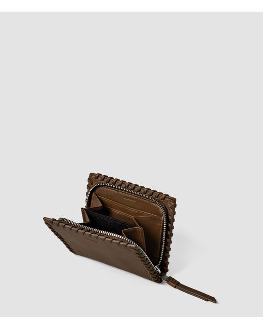 AllSaints | Brown Fleur De Lis Small Wallet | Lyst