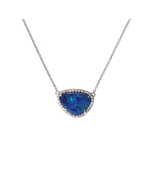 Nina Runsdorf | Metallic Opal And Diamond Pavã© Necklace | Lyst