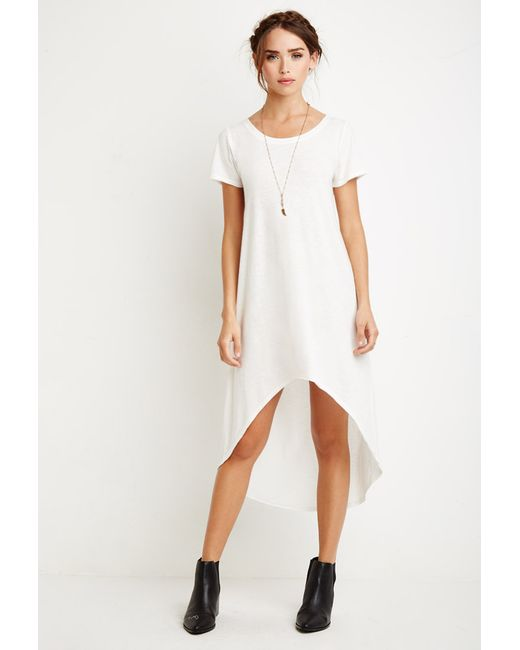 Forever 21 | Natural Curved-hem T-shirt Dress | Lyst