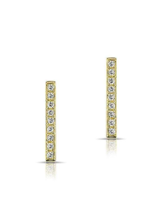 Anne Sisteron | Metallic 14kt Yellow Gold Diamond Bar Stud Earrings | Lyst