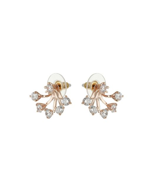 Mikey | White Spread Design Twin Stud Earring | Lyst