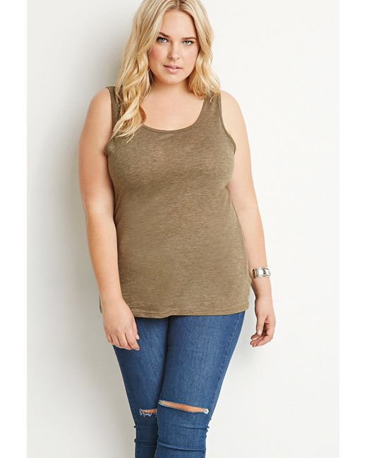 Forever 21   Green Classic Heathered Tank   Lyst