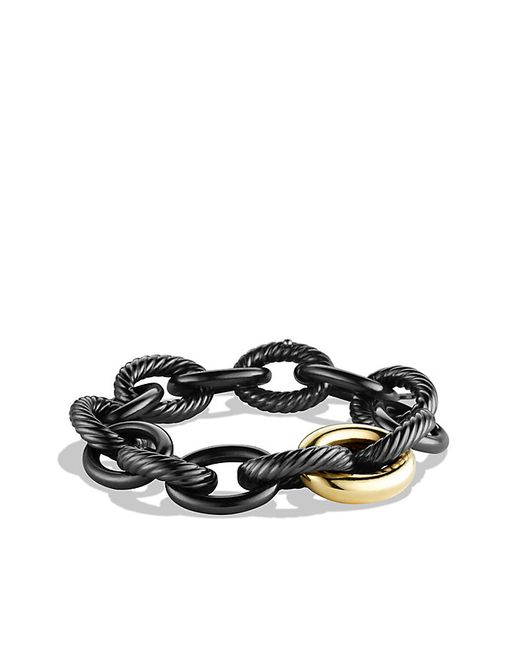 David Yurman | Metallic Oval Extra-large Link Bracelet With 18k Gold | Lyst
