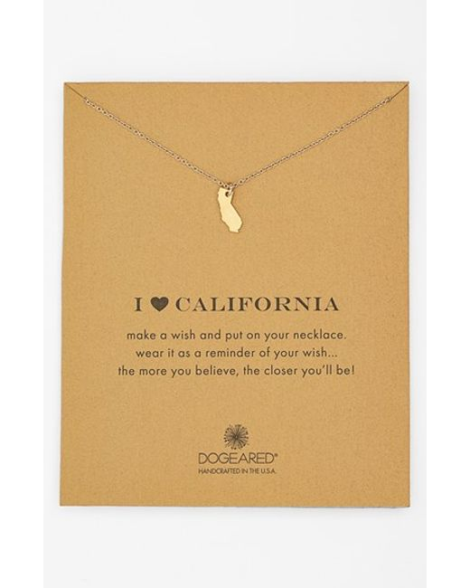 Dogeared | Metallic 'reminder - I Heart California' Pendant Necklace | Lyst