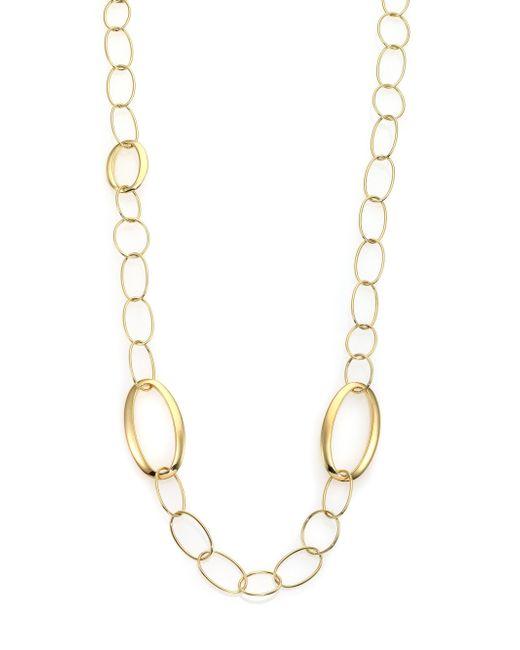 Ippolita | Metallic Glamazon 18k Yellow Gold Mixed Oval Link Necklace | Lyst