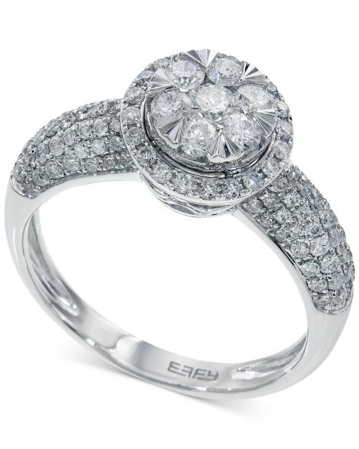 Macy's | Diamond Princess Twist Engagement Ring (1 Ct. T.w.) In 14k White Gold | Lyst