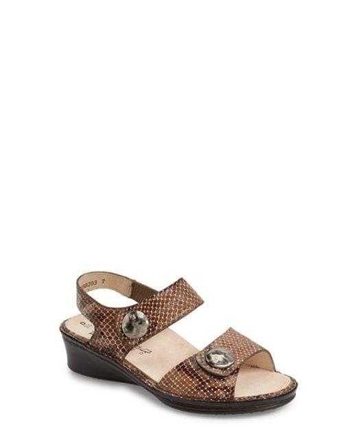 Finn Comfort | Brown 'alanya' Sandal | Lyst