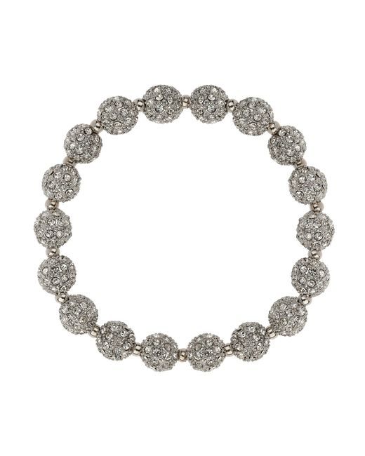 Mikey | Metallic Crystal Small Heavy Bracelet | Lyst