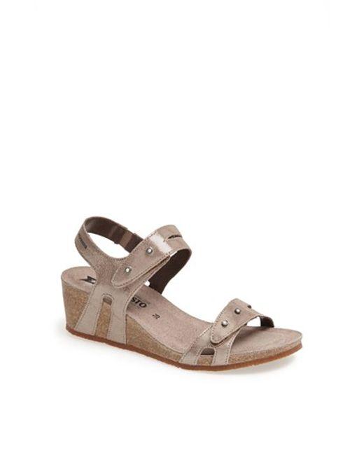 Mephisto | Natural 'minoa' Wedge Sandal | Lyst