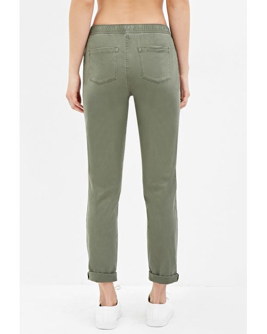 Forever 21   Green Cuffed Drawstring Pants   Lyst