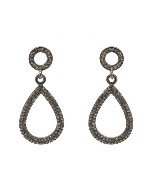 Adornia | Metallic Champagne Diamond And Sterling Silver Raina Earrings | Lyst