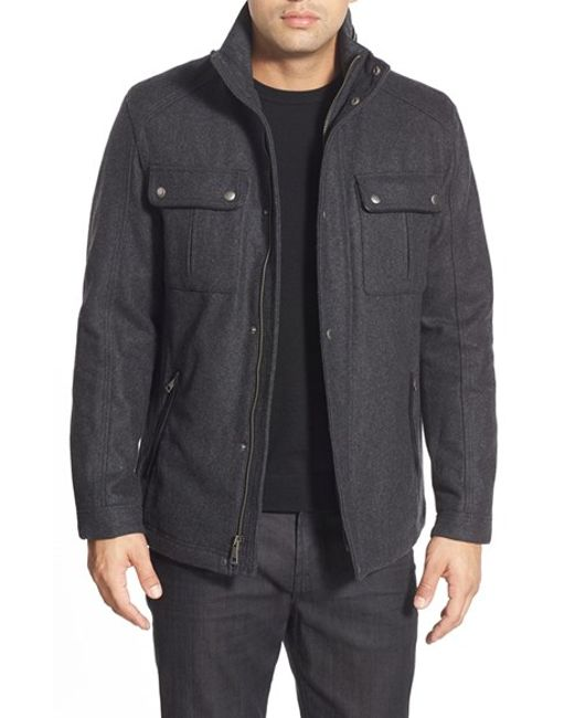 Cole Haan | Gray Melton Coat for Men | Lyst