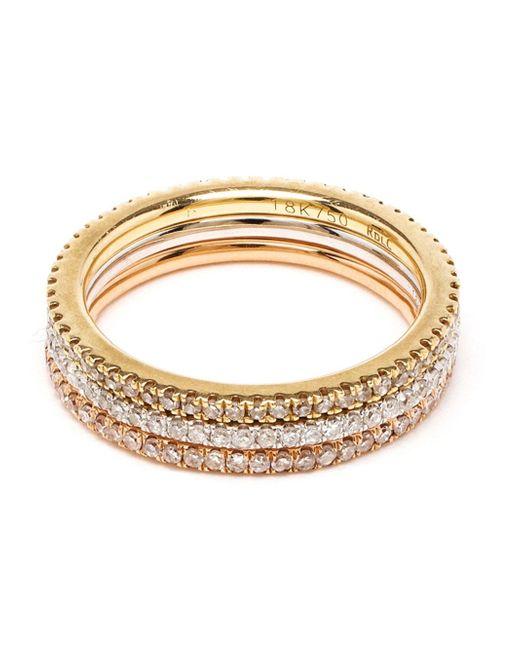 Rosa De La Cruz   Pink 18k Yellow Gold & Diamond Midi Ring   Lyst
