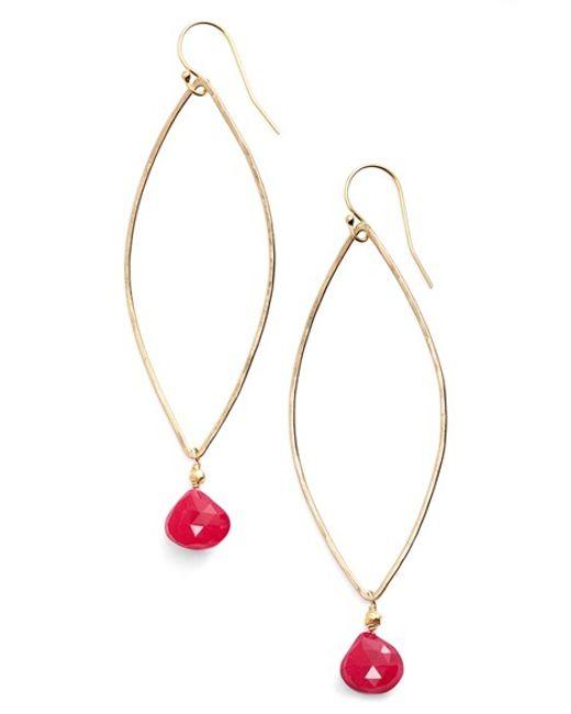 Ki-ele | Metallic 'melia' Marquis Earrings | Lyst
