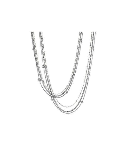 David Yurman | Metallic Starburst Pearl Chain Necklace | Lyst