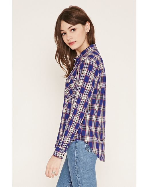 Forever 21 | Brown Tartan Check Shirt | Lyst