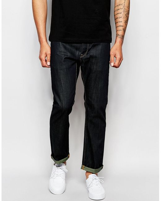 star raw black jeans 3301 straight fit raw brooklyn dark denim for. Black Bedroom Furniture Sets. Home Design Ideas