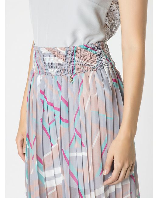patrizia pepe pleated skirt in flowing fabric in