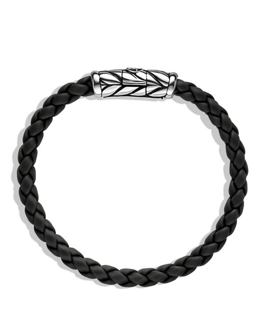 David Yurman | Metallic Chevron Bracelet In Black for Men | Lyst