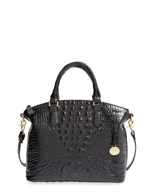 Brahmin | Black 'medium Duxbury' Croc Embossed Leather Satchel | Lyst