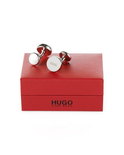 HUGO | Natural Cufflinks: 'e-color' for Men | Lyst