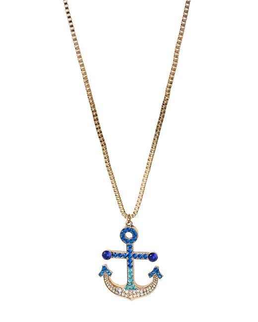 Betsey Johnson | Blue Ocean Drive Snake Lariat Faceted Bead Adjustable Long Necklace | Lyst