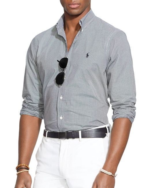 Polo Ralph Lauren | Black Checked Poplin Button Down Shirt - Classic Fit for Men | Lyst