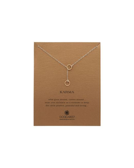 Dogeared | Metallic Karma Double Circle Adjustable Lariat Necklace | Lyst