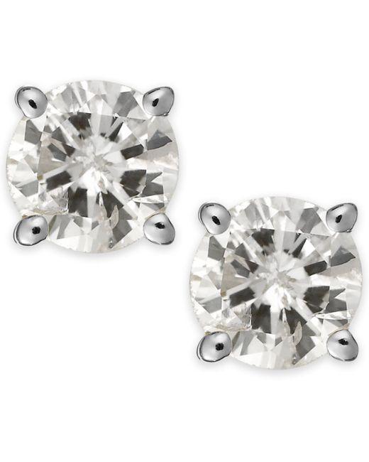 Macy's | Metallic Diamond Stud Earrings (1/3 Ct. T.w.) In 14k White Or Yellow Gold | Lyst