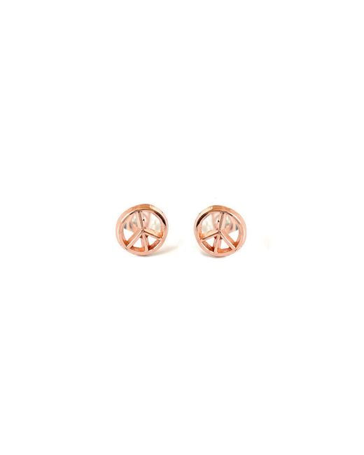 Bing Bang | Pink Peace Sign Studs | Lyst