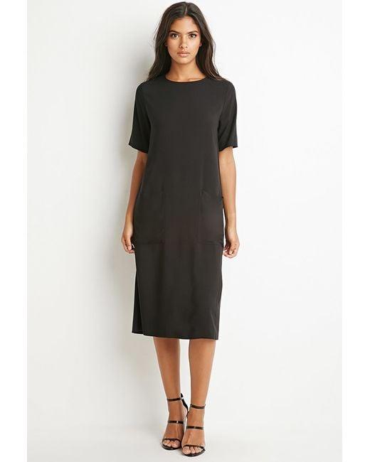 Forever 21 | Black Two-pocket Midi Dress | Lyst