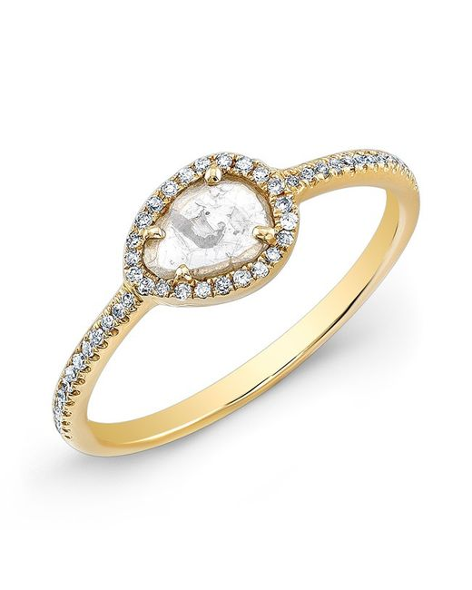 Anne Sisteron | Metallic 14kt Yellow Gold Sasha Diamond Slice Ring | Lyst
