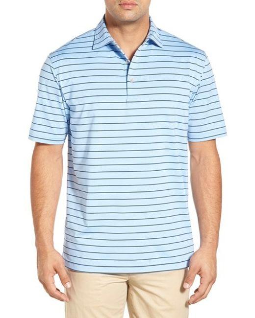 Peter millar moisture wicking quarter stripe stretch for Peter millar golf shirts
