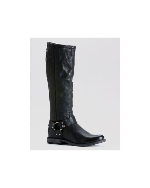 frye harness boots phillip in black lyst