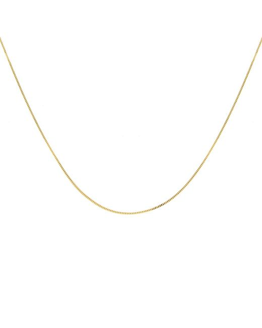 Ib&b | Metallic 18ct Gold Diamond Cut Curb Chain Necklace | Lyst