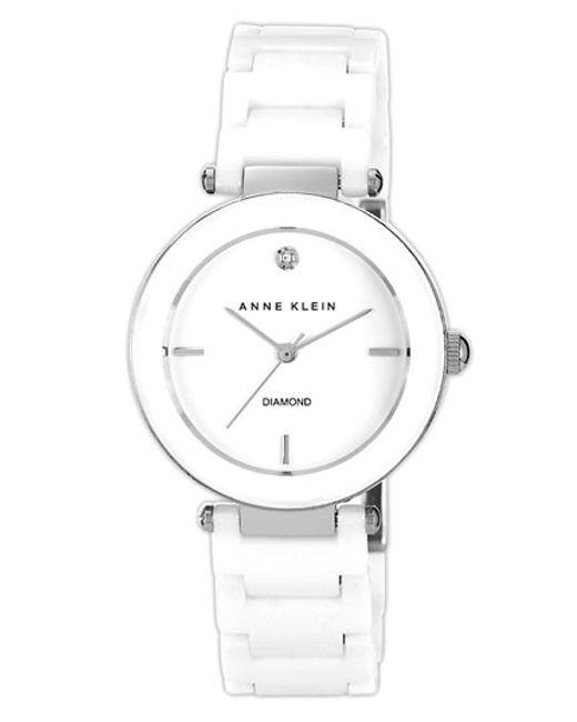 Anne Klein   Black Round Ceramic Bracelet Watch   Lyst