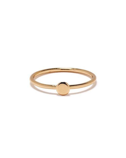 Bing Bang | Yellow Tiny Circle Ring | Lyst