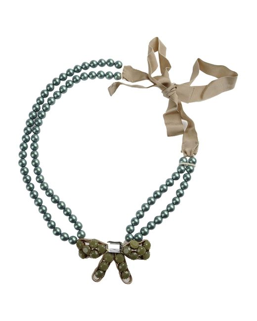 Moschino | Green Necklace | Lyst