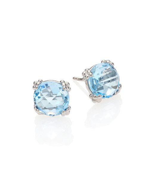Anzie | Dew Drop Sky Blue Topaz & Sterling Silver Stud Earrings | Lyst