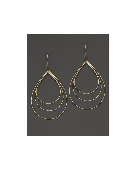 Lana Jewelry | Metallic 14k Yellow Gold Large Three Tier Drop Earrings | Lyst