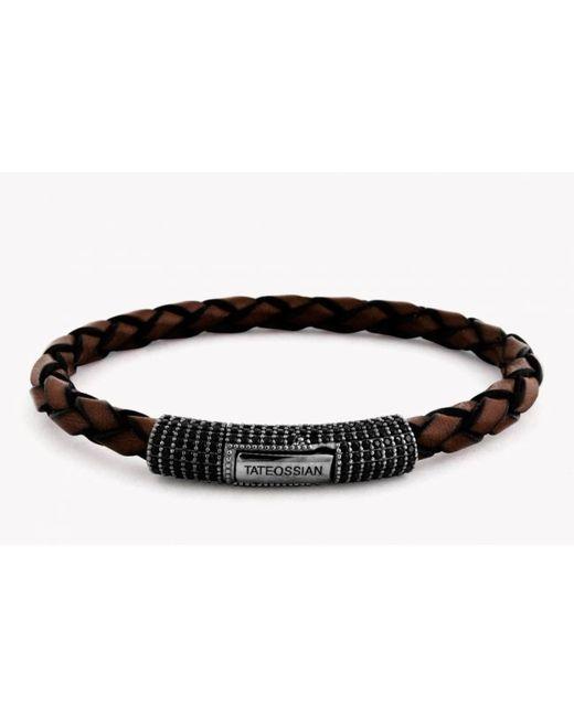 Tateossian - Brown Pop Pavé Scoubidou Bracelet for Men - Lyst