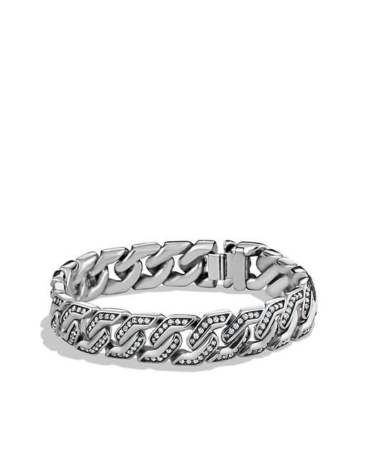 David Yurman | Metallic Curb Chain Bracelet With Gray Sapphires for Men | Lyst