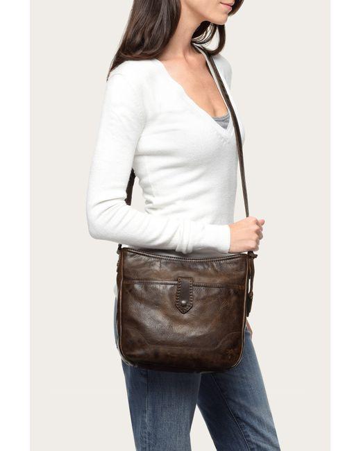 Paul Smith Suits >> Frye Melissa Button Crossbody in Brown (Dark Brown)   Lyst