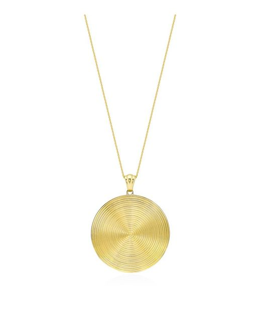 Theo Fennell | Metallic Gold Whip Disc Pendant | Lyst