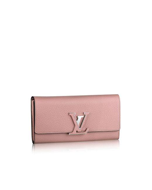 Louis Vuitton | Pink Capucines Wallet | Lyst