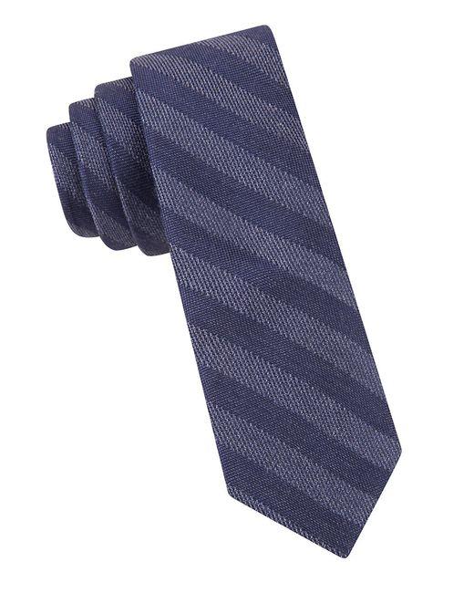 Calvin Klein | Blue Striped Tie for Men | Lyst