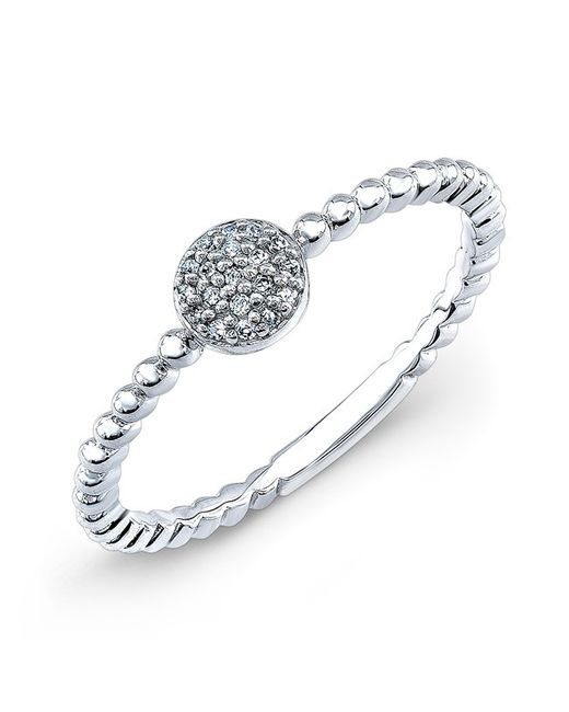 Anne Sisteron | Metallic 14kt White Gold Diamond Stacking Ring | Lyst