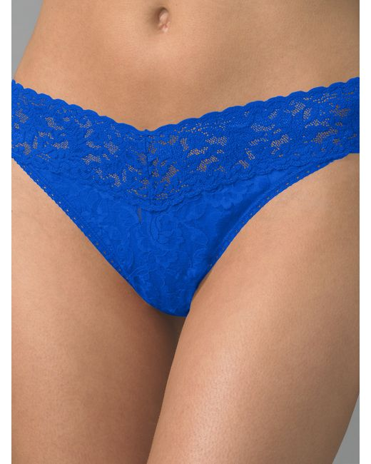Hanky Panky Signature Lace Original rise Thong In Blue Lyst